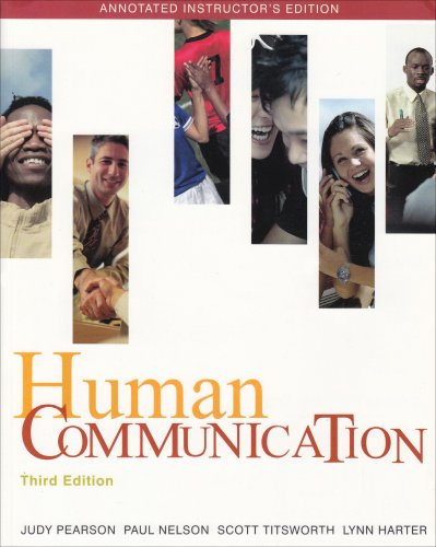 Human Communication 3rd 2008 9780073328836 Front Cover