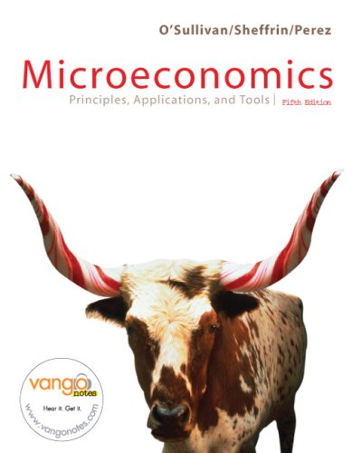 Microeconomics Principles, Applications, and Tools 5th 2007 edition cover