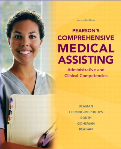 Pearson's Comprehensive Medical Assisting  2nd 2011 edition cover