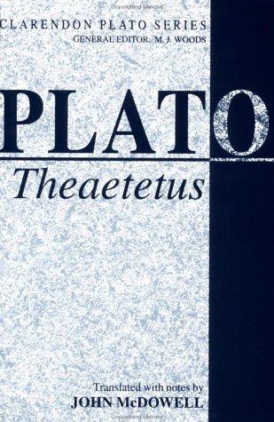 Theaetetus   1973 edition cover