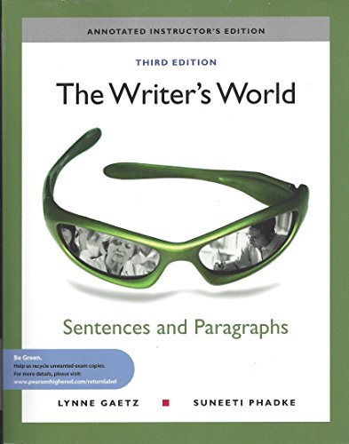 WRITER'S WORLD:PARA+ESS.>ANNOT N/A 9780205781836 Front Cover