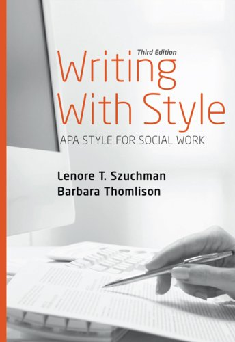 Writing with Style APA Style for Social Work 3rd 2008 (Revised) edition cover