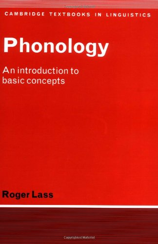 Phonology An Introduction to Basic Concepts N/A 9780521281836 Front Cover