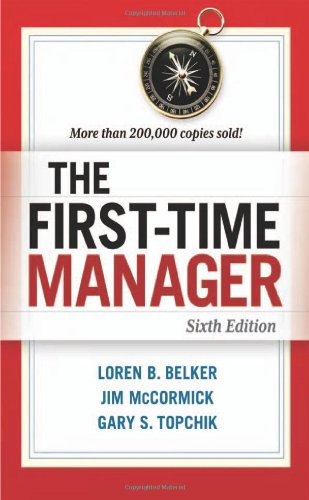 First-Time Manager  6th 2012 edition cover