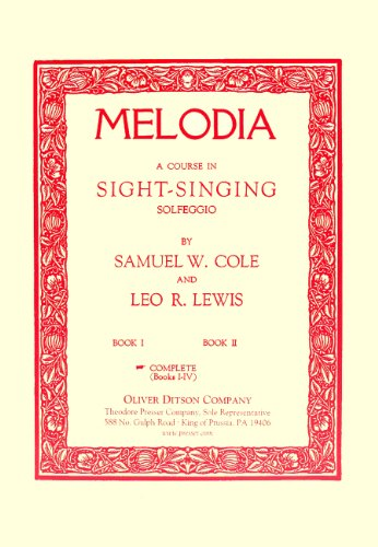 MELODIA:COURSE IN SIGHT-SINGIN N/A edition cover