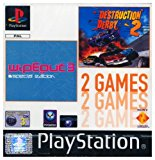 PSone Twin Pack: Wipeout 3/Destruction Derby 2 PlayStation artwork