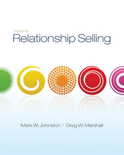 Relationship Selling 3rd 2010 edition cover