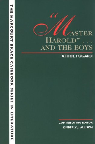 """""""Master Harold"""" ...And the Boys   1997 edition cover"""