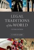 Legal Traditions of the World Sustainable Diversity in Law 5th 2014 edition cover