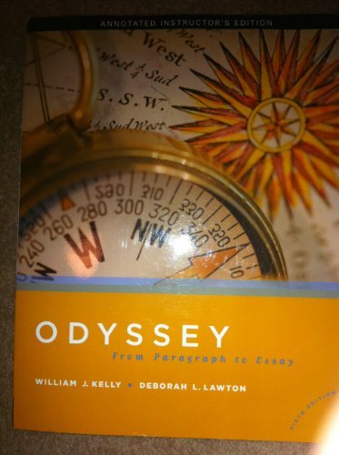 Odyssey : From Paragraph to Essay 6th 2010 9780205739837 Front Cover