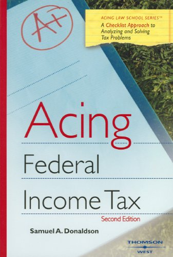 Acing Income Taxation   2008 edition cover