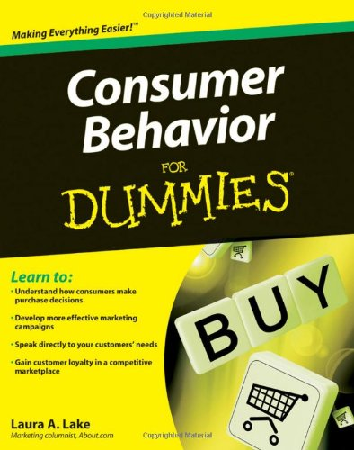 Consumer Behavior for Dummies   2009 edition cover