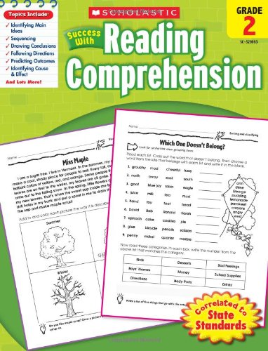Scholastic Success with Reading Comprehension   2010 9780545200837 Front Cover