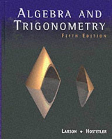 Algebra and Trigonometry  5th 2001 edition cover