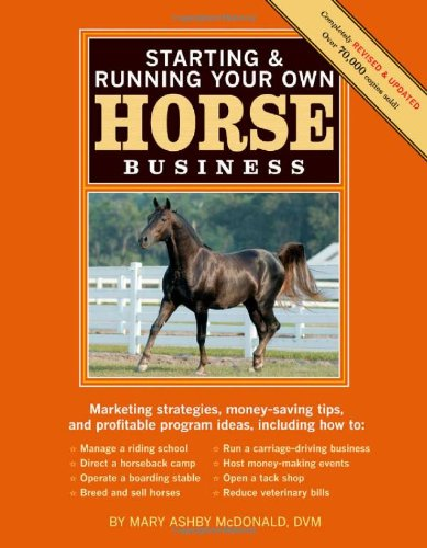 Starting and Running Your Own Horse Business Marketing Strategies, Money-Saving Tips, and Profitable Program Ideas 2nd 2009 edition cover