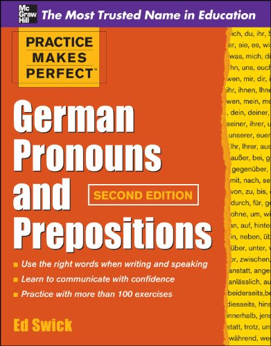 German Pronouns and Prepositions  2nd 2011 edition cover