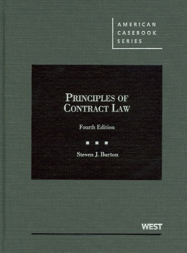 Burton's Principles of Contract Law, 4th  4th 2012 (Revised) edition cover