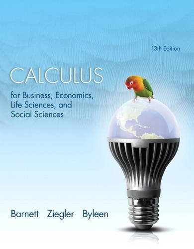 Calculus for Business, Economics, Life Sciences, and Social Sciences  13th 2015 edition cover