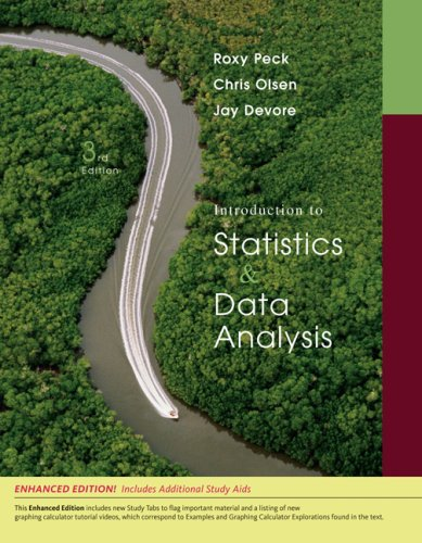 Introduction to Statistics and Data Analysis  3rd 2009 edition cover
