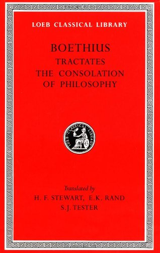 Tractates - The Consolation of Philosophy   1973 9780674990838 Front Cover