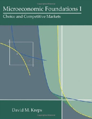 Microeconomic Foundations I Choice and Competitive Markets  2013 edition cover