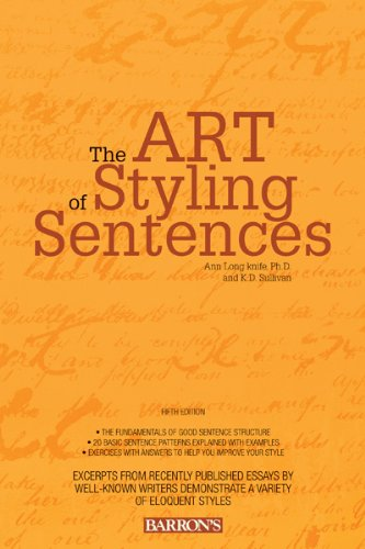 Art of Styling Sentences  5th 2012 (Revised) edition cover