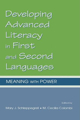 Developing Advanced Literacy in First and Second Languages Meaning with Power  2002 edition cover