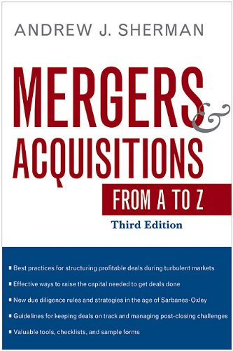 Mergers and Acquisitions from A to Z  3rd 2010 edition cover