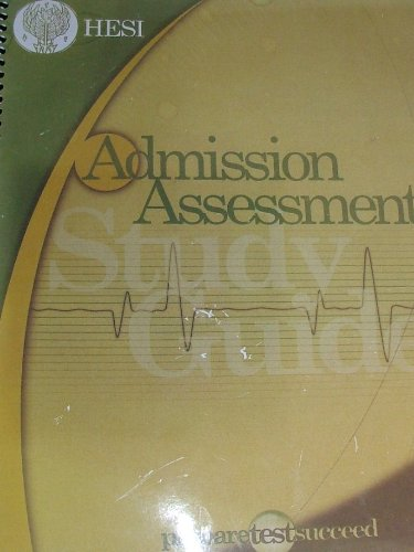 Admission Assessment Study Guide  Student Manual, Study Guide, etc. edition cover