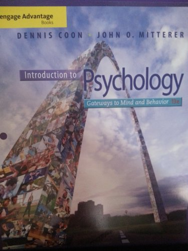 Cengage Advantage Books: Introduction to Psychology Gateways to Mind and Behavior 13th 2013 edition cover