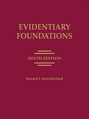 Evidentiary Foundations   2015 edition cover