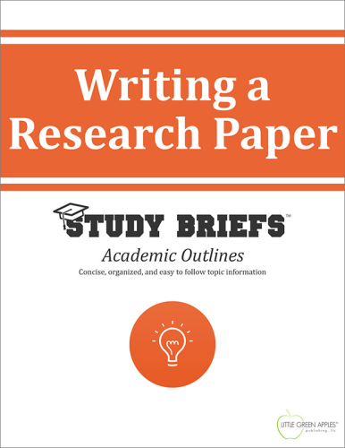 Writing a Research Paper   2015 9781634261838 Front Cover