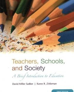Teachers, Schools, and Society A Brief Introduction to Education  2007 edition cover