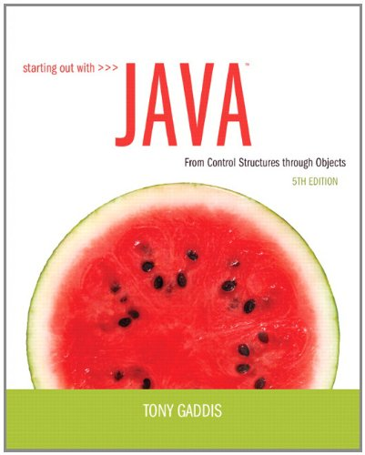 Starting Out with Java From Control Structures Through Objects 5th 2013 (Revised) edition cover
