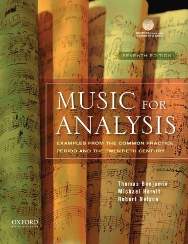 Music for Analysis Examples from the Common Practice Period and the Twentieth Century 7th 2010 edition cover