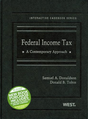 Federal Income Tax A Contemporary Approach  2012 9780314198839 Front Cover
