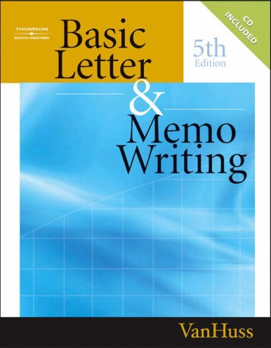 Basic Letter and Memo Writing  5th 2005 (Revised) 9780538727839 Front Cover