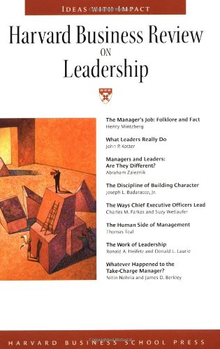 Harvard Business Review on Leadership   1998 edition cover