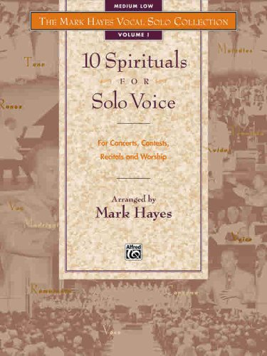 Mark Hayes Vocal Solo Collection -- 10 Spirituals for Solo Voice Medium Low Voice  1998 edition cover