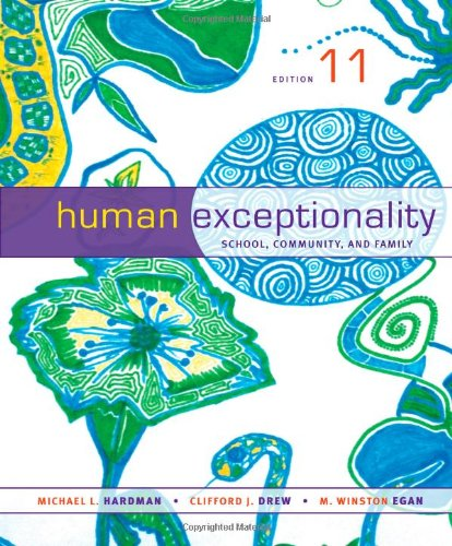 Human Exceptionality School, Community, and Family 11th 2014 edition cover