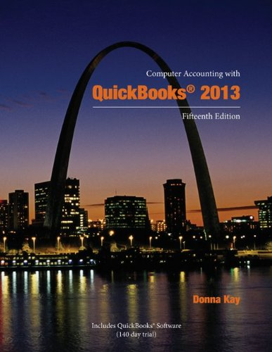 Computer Accounting with QuickBooks 2013  15th 2014 edition cover