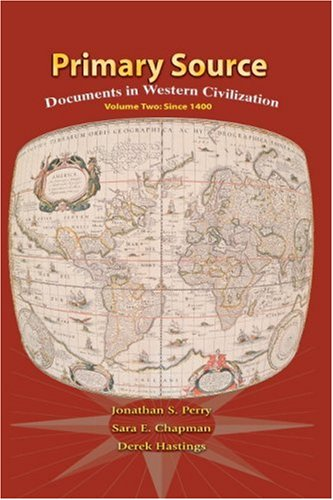 Primary Source Documents in Western Civilization 2nd 2009 edition cover
