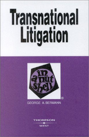 Transnational Litigation in a Nutshell   2003 9780314145840 Front Cover