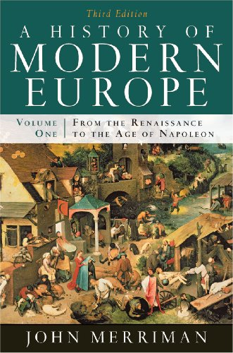 History of Modern Europe From the Renaissance to the Age of Napoleon 3rd edition cover