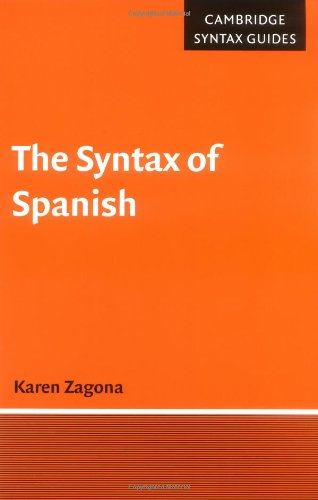 Syntax of Spanish   2001 9780521576840 Front Cover