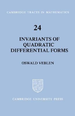 Invariants of Quadratic Differential Forms  N/A 9780521604840 Front Cover