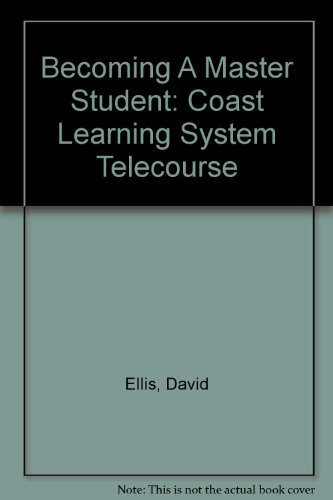 Study Guide to Accompany Coast Learning System Telecourse : Used with ... Ellis-Becoming a Master Student 10th 2003 (Student Manual, Study Guide, etc.) 9780618232840 Front Cover