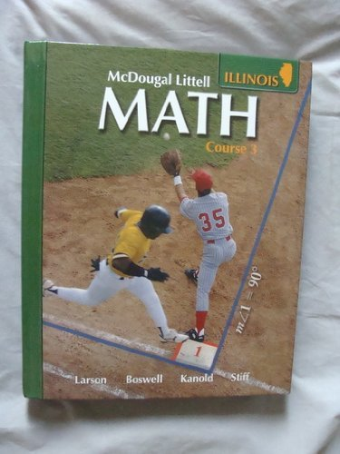 McDougal Littell Middle School Math Wisconsin Student Edition Course 3 2008  2007 9780618922840 Front Cover