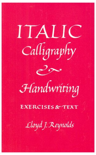 Italic Calligraphy and Handwriting Exercises and Text  1969 9780800842840 Front Cover