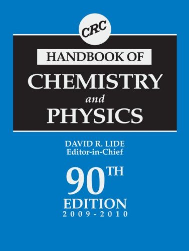 CRC Handbook of Chemistry and Physics  90th 2009 edition cover